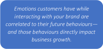 Customer emotions correlated to future behaviours2