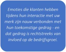 Emoties klanten verbonden met toekomstig gedrag
